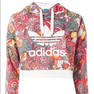 Adidas originals tropical cropped hoodie